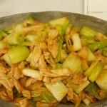 ねぎと鶏肉の中華風炒め
