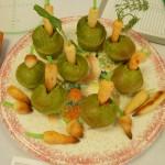 菊菜と干柿のマフィン