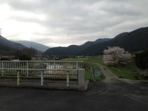 里の駅のそばの橋から井出方面を眺めて