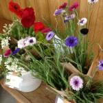 お花コーナーは華やか!
