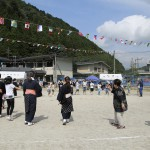 区民運動会では地元に伝わる八朔踊りも踊ります