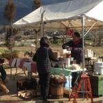 コーヒーの山川さん、里景色を眺めながらのコーヒーは格別!