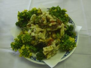 干し野菜の天ぷら