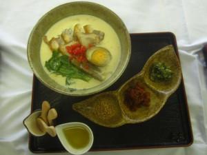 大原野菜と地鶏の豆乳ラーメン