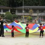 大原学院内、小野山わらんべさんの運動会♪